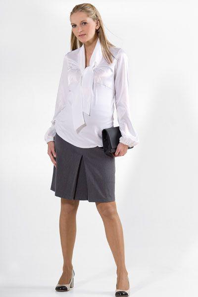 Těhotenská sukně BEBEFIELD - Roselle Grey