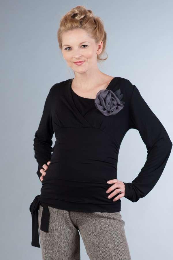Těhotenská halenka BEBEFIELD - Daphne Black