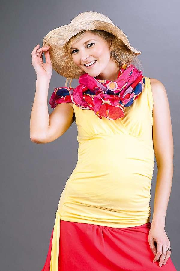 Těhotenská halenka BEBEFIELD - Maya Yellow