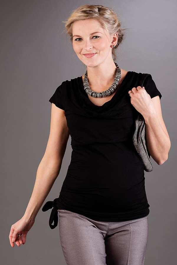 Těhotenská halenka BEBEFIELD - Patrizia Black