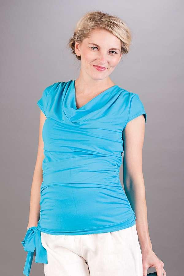 Těhotenská halenka BEBEFIELD - Patrizia Sky Blue
