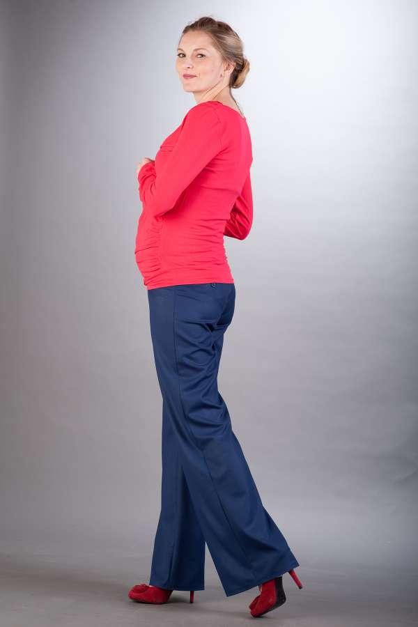 Těhotenské kalhoty BEBEFIELD - Classic Navy
