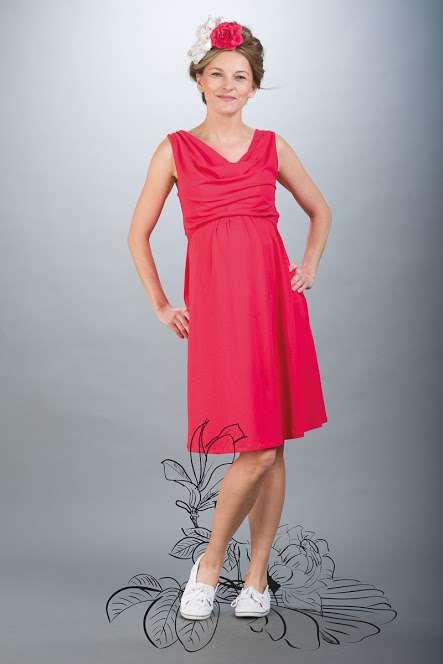 Těhotenské šaty BEBEFIELD - Mia Coral