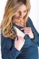 Těhotenská halenka BEBEFIELD - Daphne Navy & White