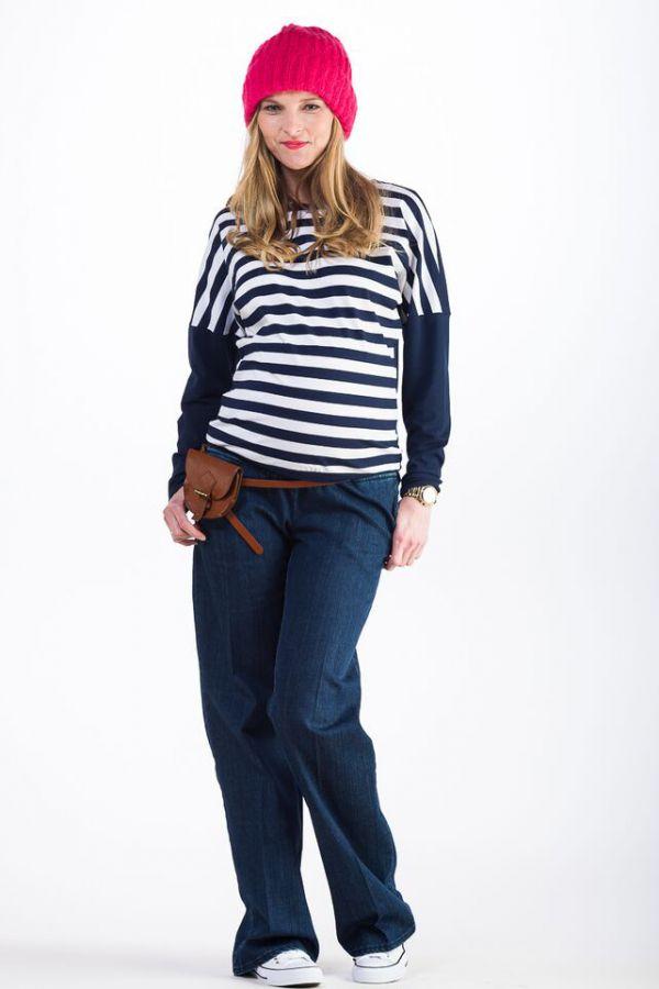 Těhotenské kalhoty BEBEFIELD - Amsterdam Jeans