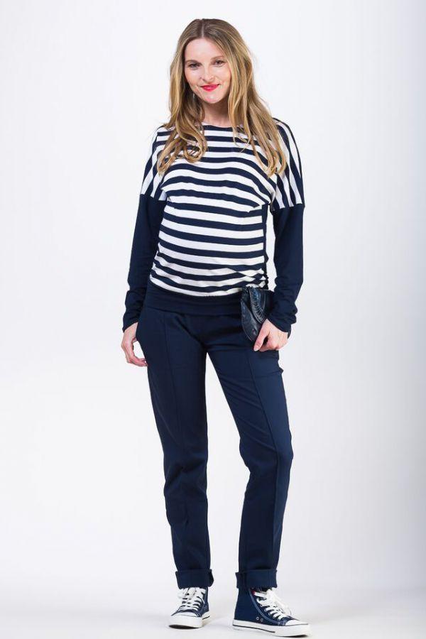 Těhotenské kalhoty BEBEFIELD - Enzo Navy