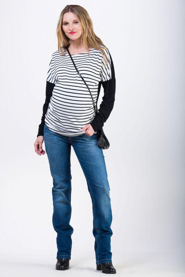 Těhotenské kalhoty BEBEFIELD - Venezia Blue Jeans