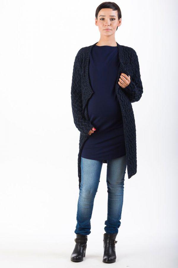 Těhotenský svetr BEBEFIELD - Ruben Navy