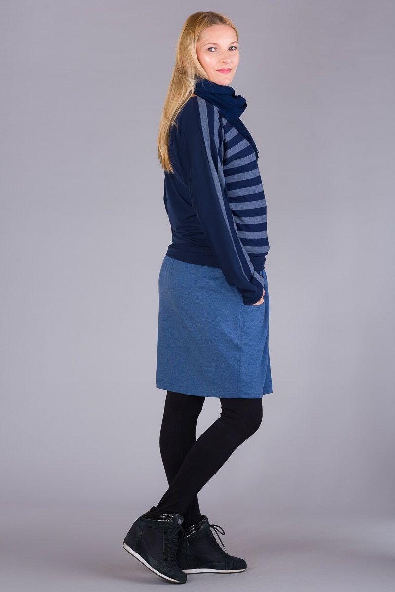 Těhotenská halenka BEBEFIELD - June Jeans Navy