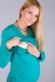 Těhotenská halenka BEBEFIELD - Kelly Blue Lagoon