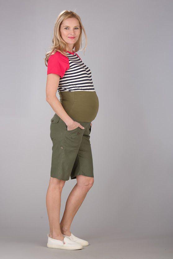 Těhotenské kalhoty BEBEFIELD - Oman Khaki