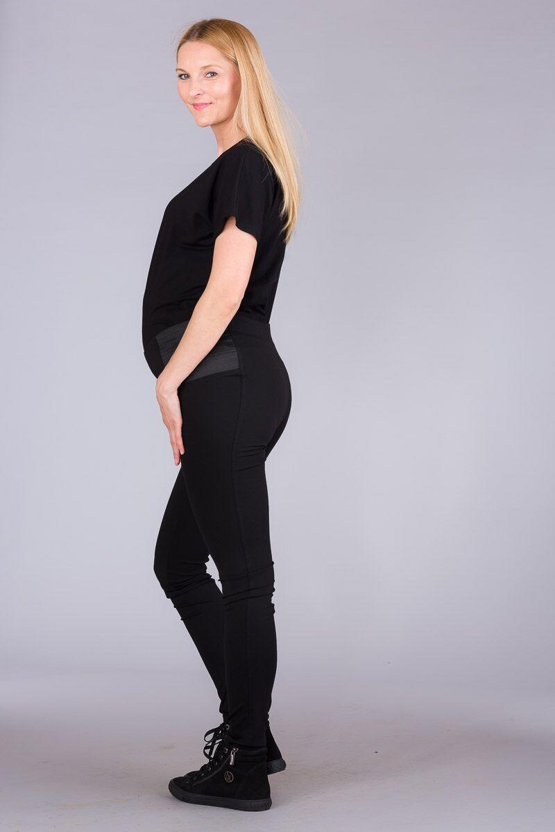 Těhotenské kalhoty BEBEFIELD - Pearl Black