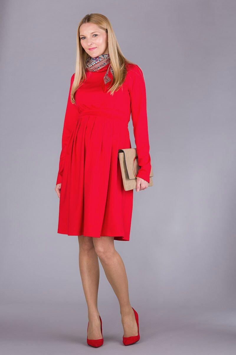 Těhotenské šaty BEBEFIELD - Ariana Orange Red
