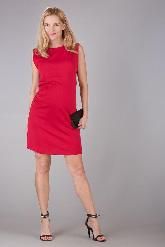Těhotenské šaty BEBEFIELD - Grazia Red
