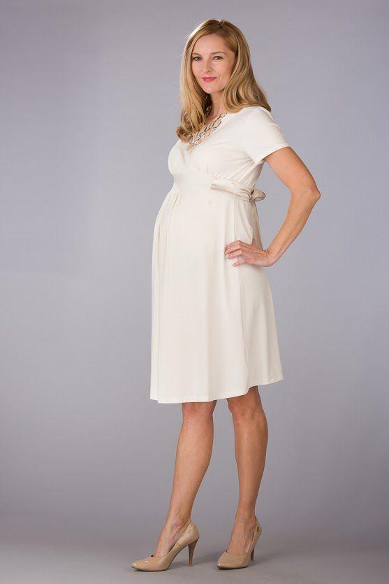Těhotenské šaty BEBEFIELD - Inez Ecru