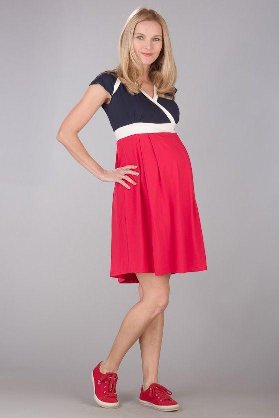 11e81f031dc Těhotenské šaty BEBEFIELD - Nadine Red