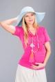 Těhotenská halenka BEBEFIELD - Amal Pink Dots