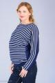 Těhotenská halenka BEBEFIELD - June Navy & White