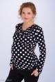 Zvětšit fotografii - Těhotenská halenka BEBEFIELD - Kelly Black & White