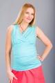Těhotenská halenka BEBEFIELD - Lucy Blue Dots
