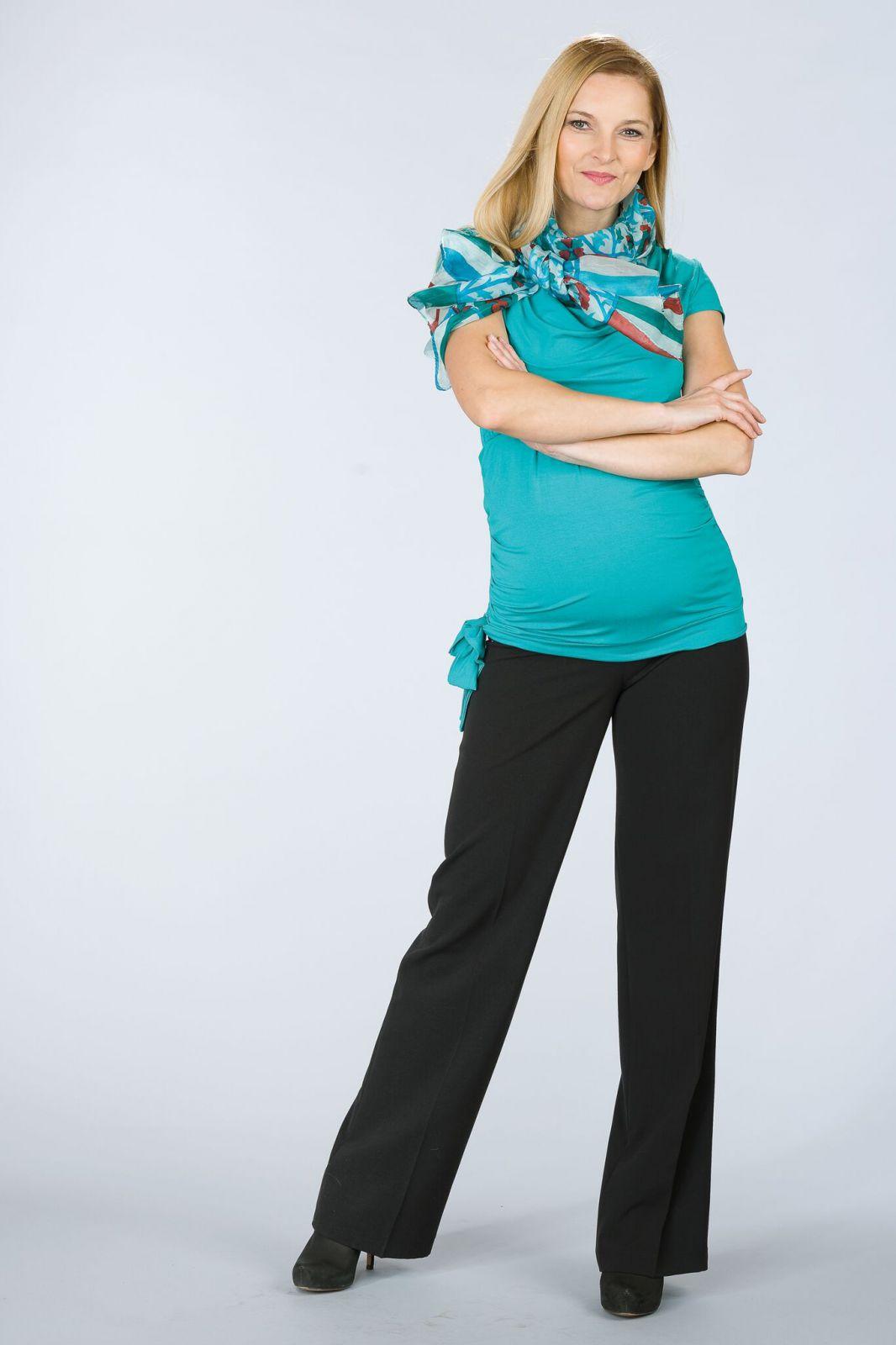 Těhotenská halenka BEBEFIELD - Tina Lagoon