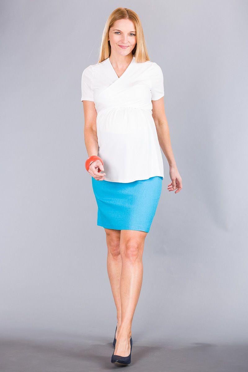 Těhotenská sukně BEBEFIELD - Celine Blue