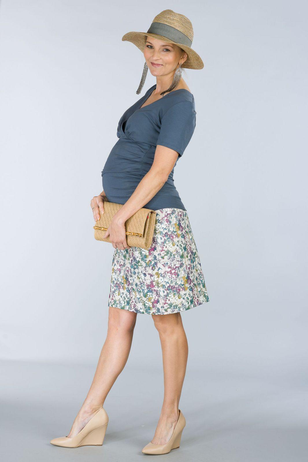 Těhotenská sukně BEBEFIELD - Frankie Ecru - Velikost 36