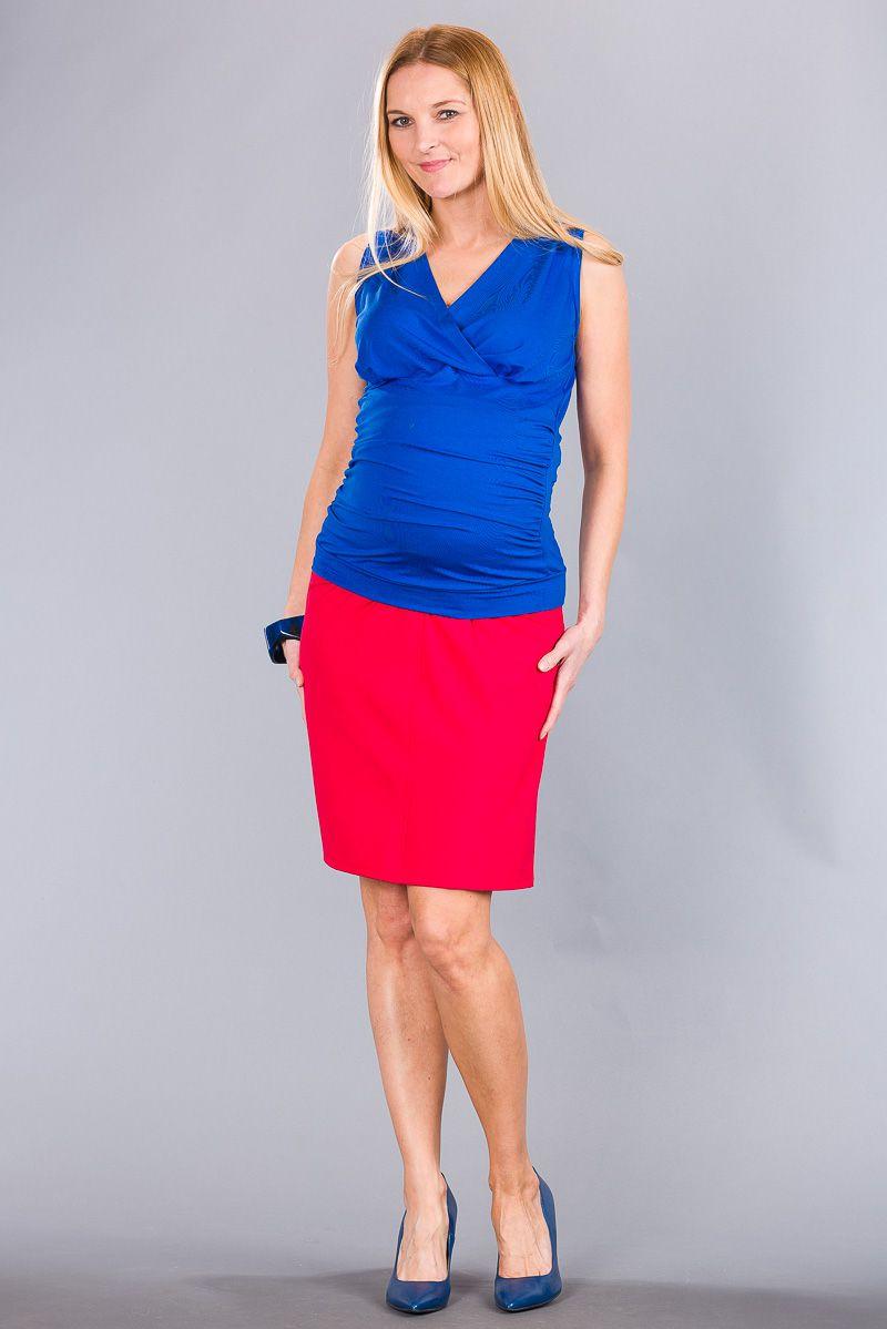 Těhotenská sukně BEBEFIELD - Rania Red
