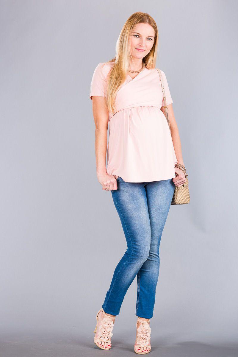 Těhotenské kalhoty BEBEFIELD - Alabama Jeans - Velikost 38
