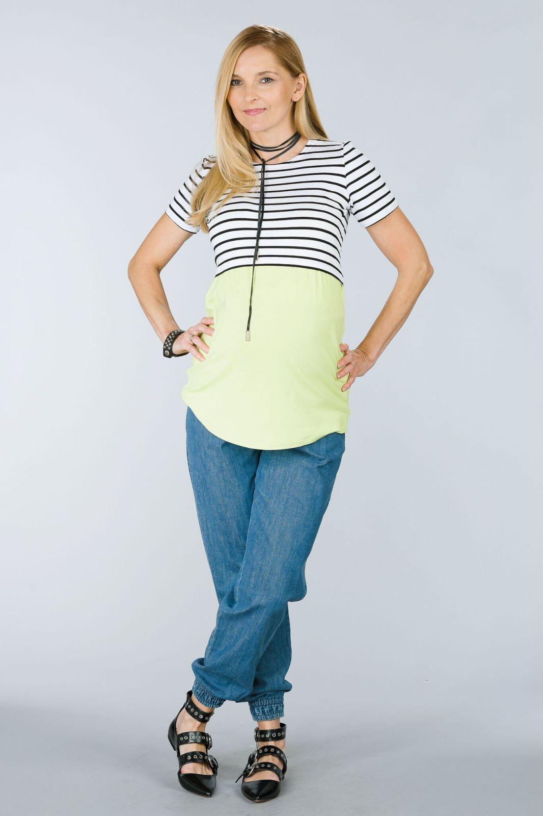 Těhotenské kalhoty BEBEFIELD - Atlanta Jeans