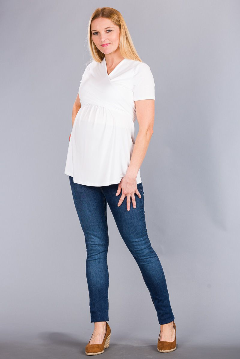 Těhotenské kalhoty BEBEFIELD - California Jeans Navy