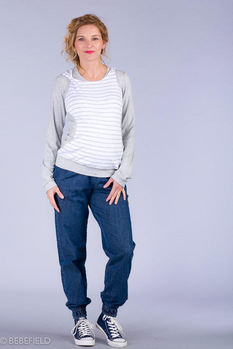 Těhotenské kalhoty BEBEFIELD - Florence Jeans