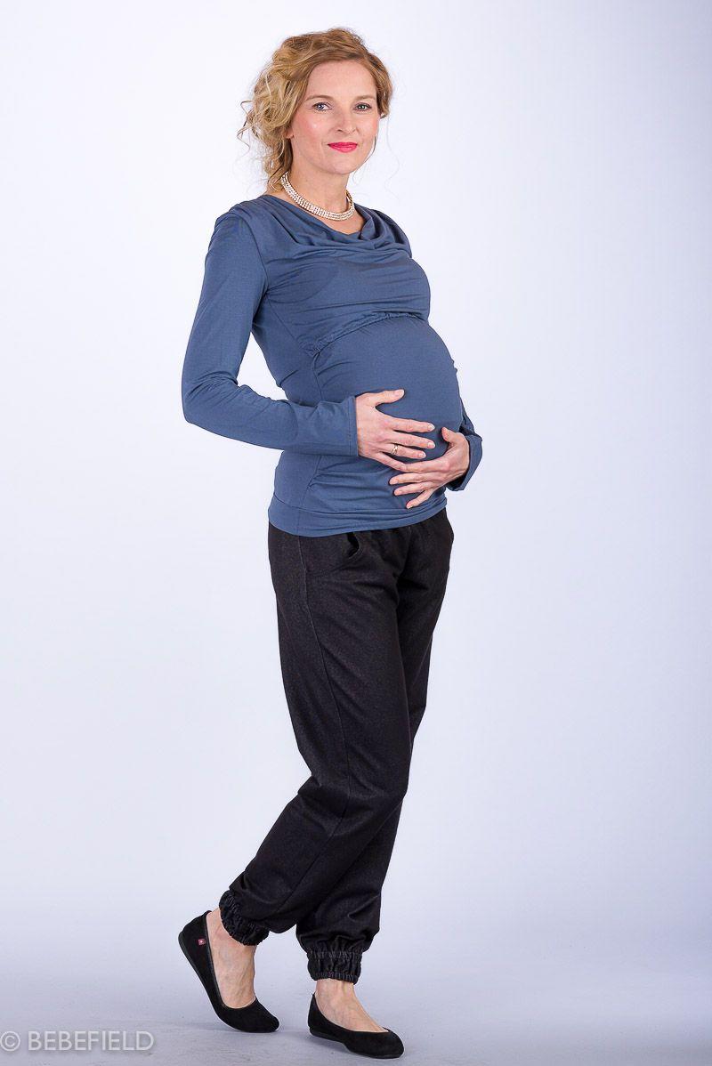 Těhotenské kalhoty BEBEFIELD - Girona Black