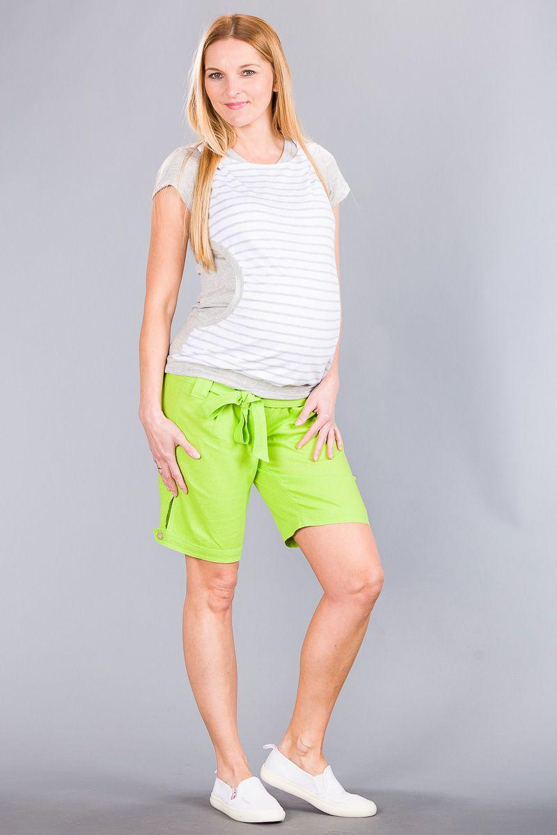 Těhotenské kalhoty BEBEFIELD - Keiko Lemon