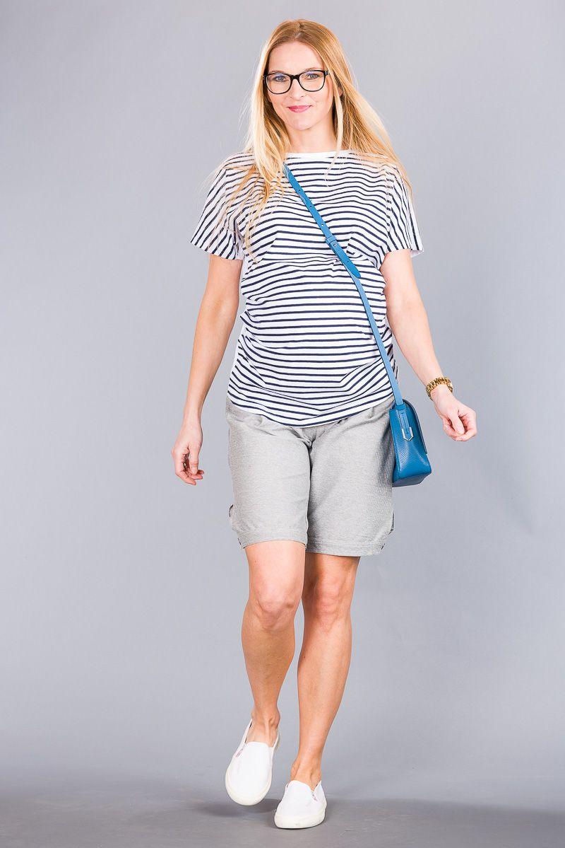 Těhotenské kalhoty BEBEFIELD - Maxime Grey