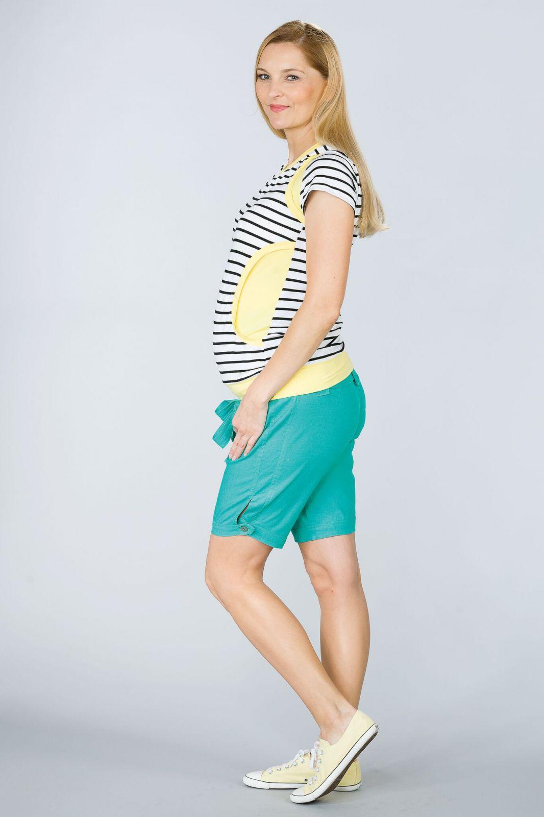 Těhotenské kalhoty BEBEFIELD - Rio Esmerald