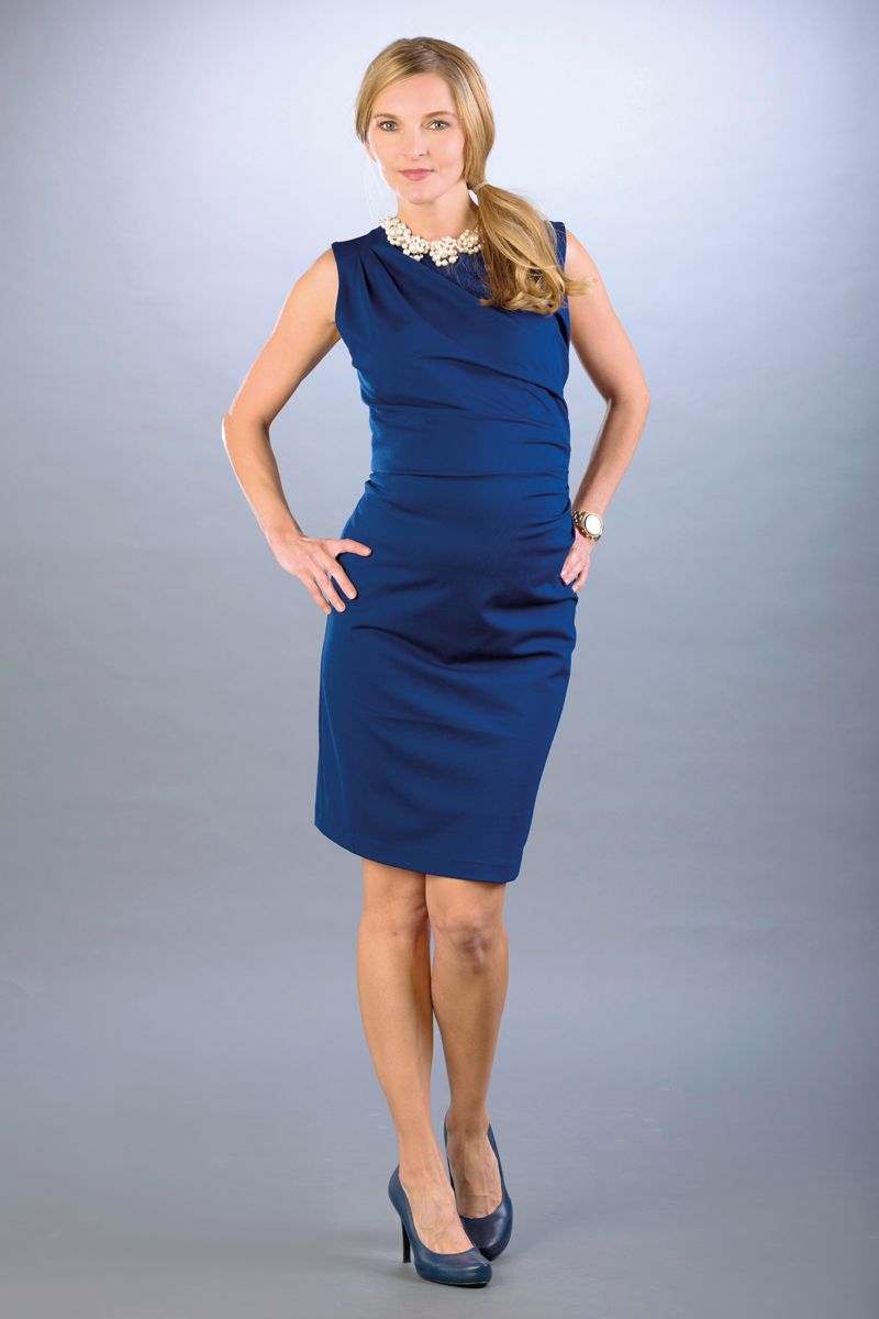 Těhotenské šaty BEBEFIELD - Grazia Cobalt