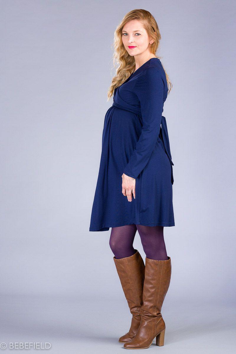 Těhotenské šaty BEBEFIELD - Julianna Inkoust