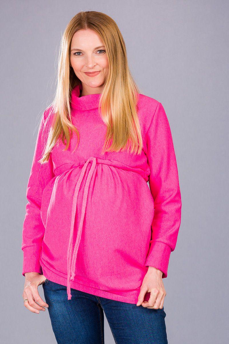Těhotenská halenka BEBEFIELD - Amber Pink