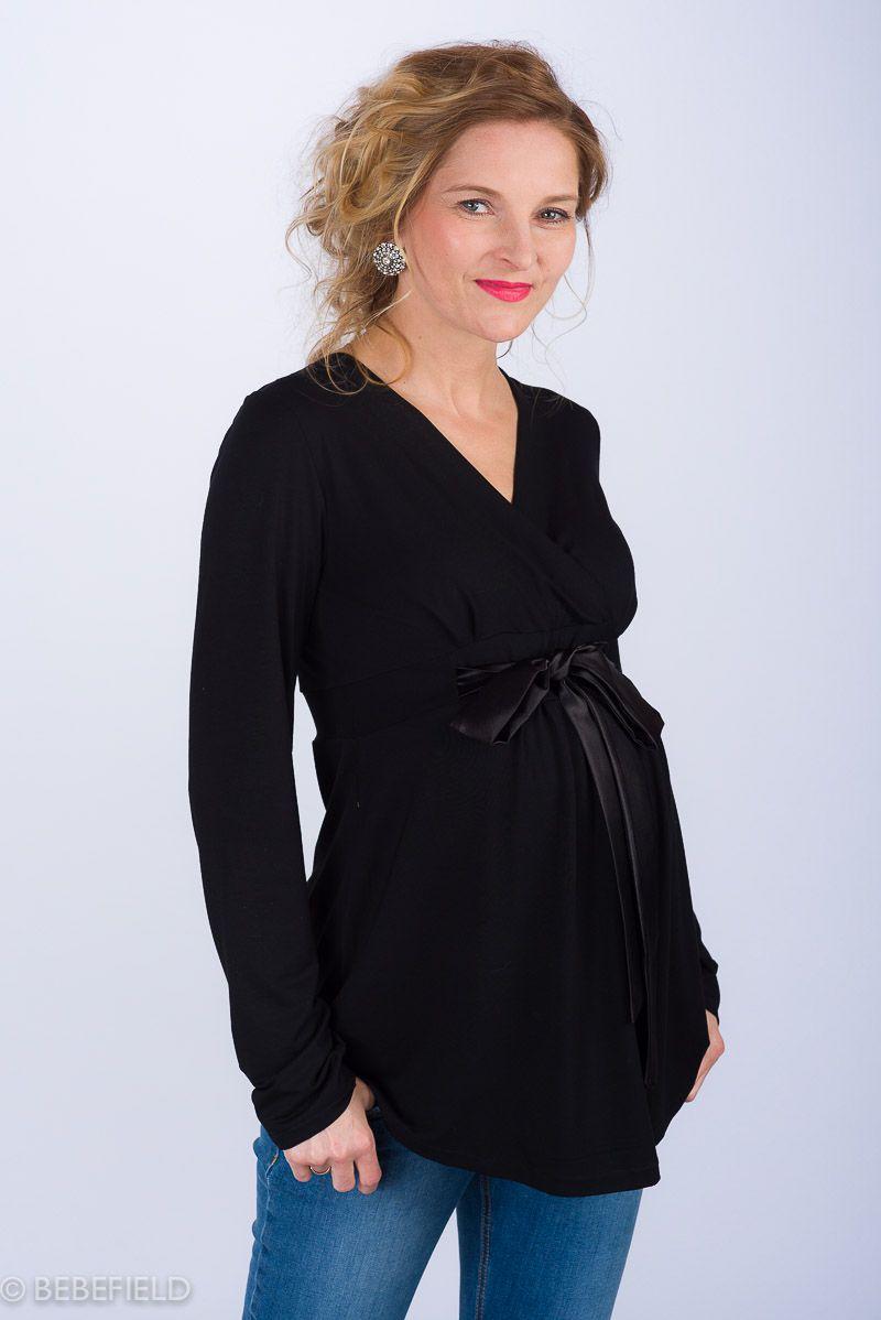 Těhotenská halenka BEBEFIELD - Antonia Black