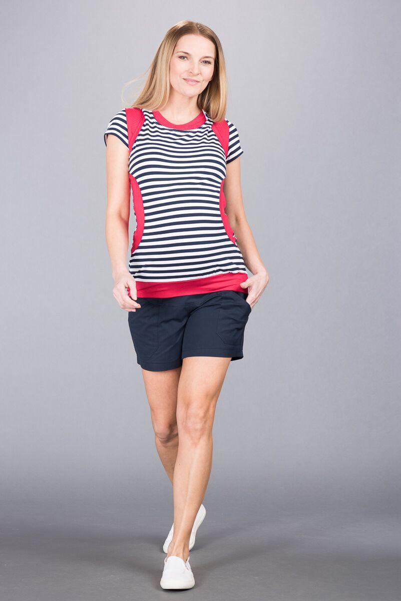 Těhotenské kalhoty BEBEFIELD - Abbie Navy