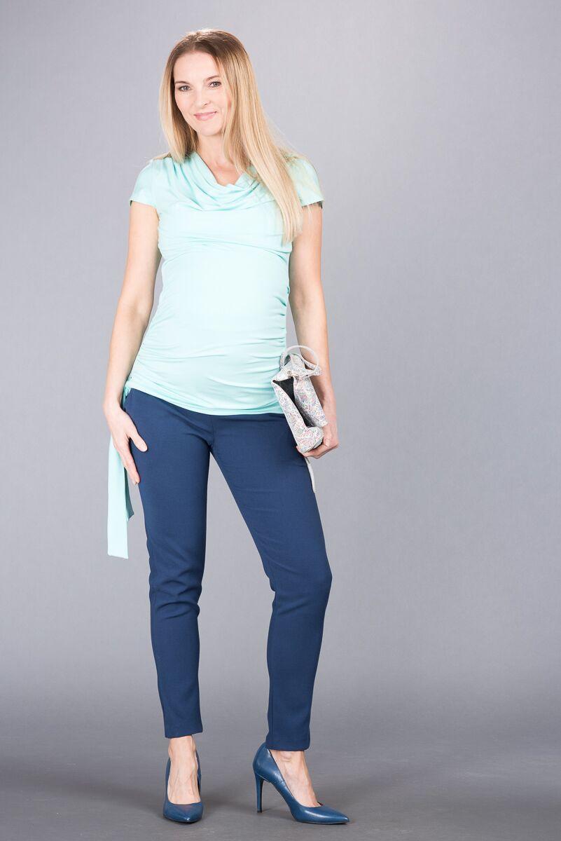 Těhotenské kalhoty BEBEFIELD - Bologna Dark Blue