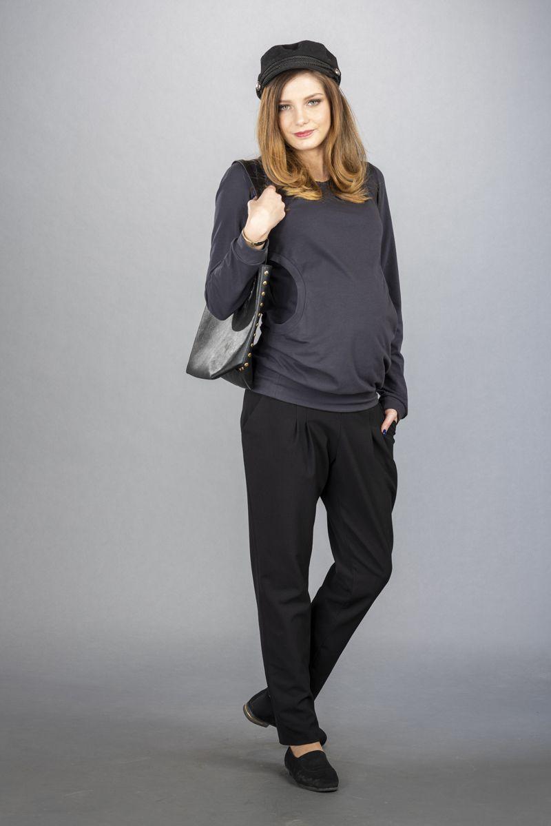 Těhotenské kalhoty BEBEFIELD - Ines Black