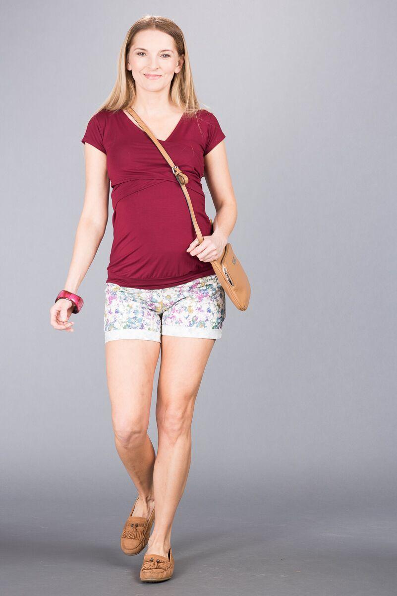 Těhotenské kalhoty BEBEFIELD - Francine Ecru