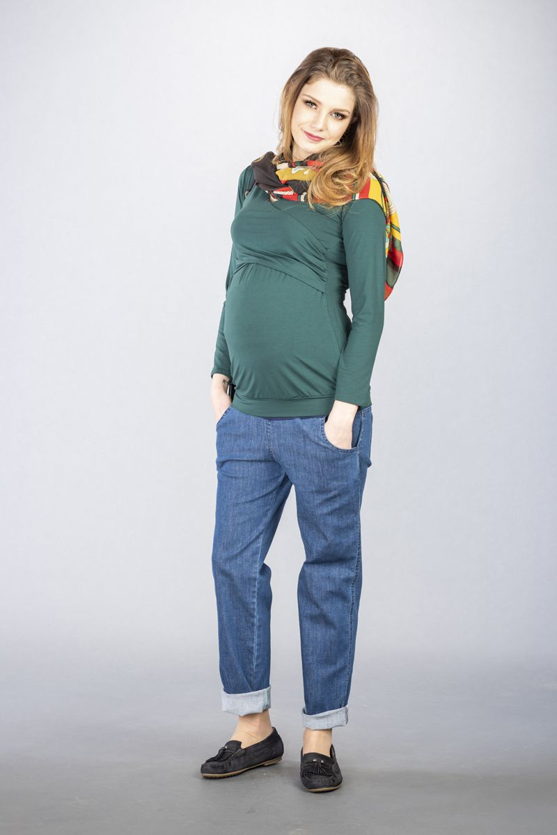 Těhotenské kalhoty BEBEFIELD - Milo jeans
