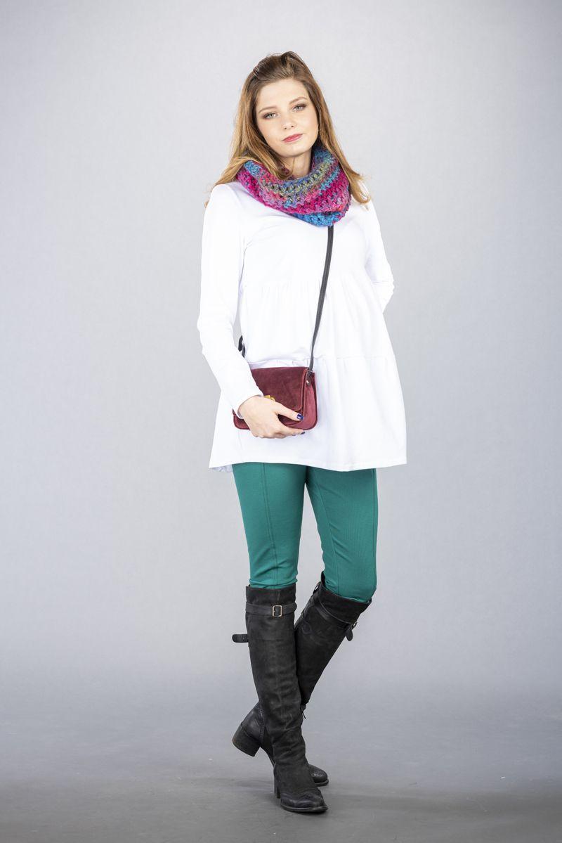 Těhotenské kalhoty BEBEFIELD - Mino Green