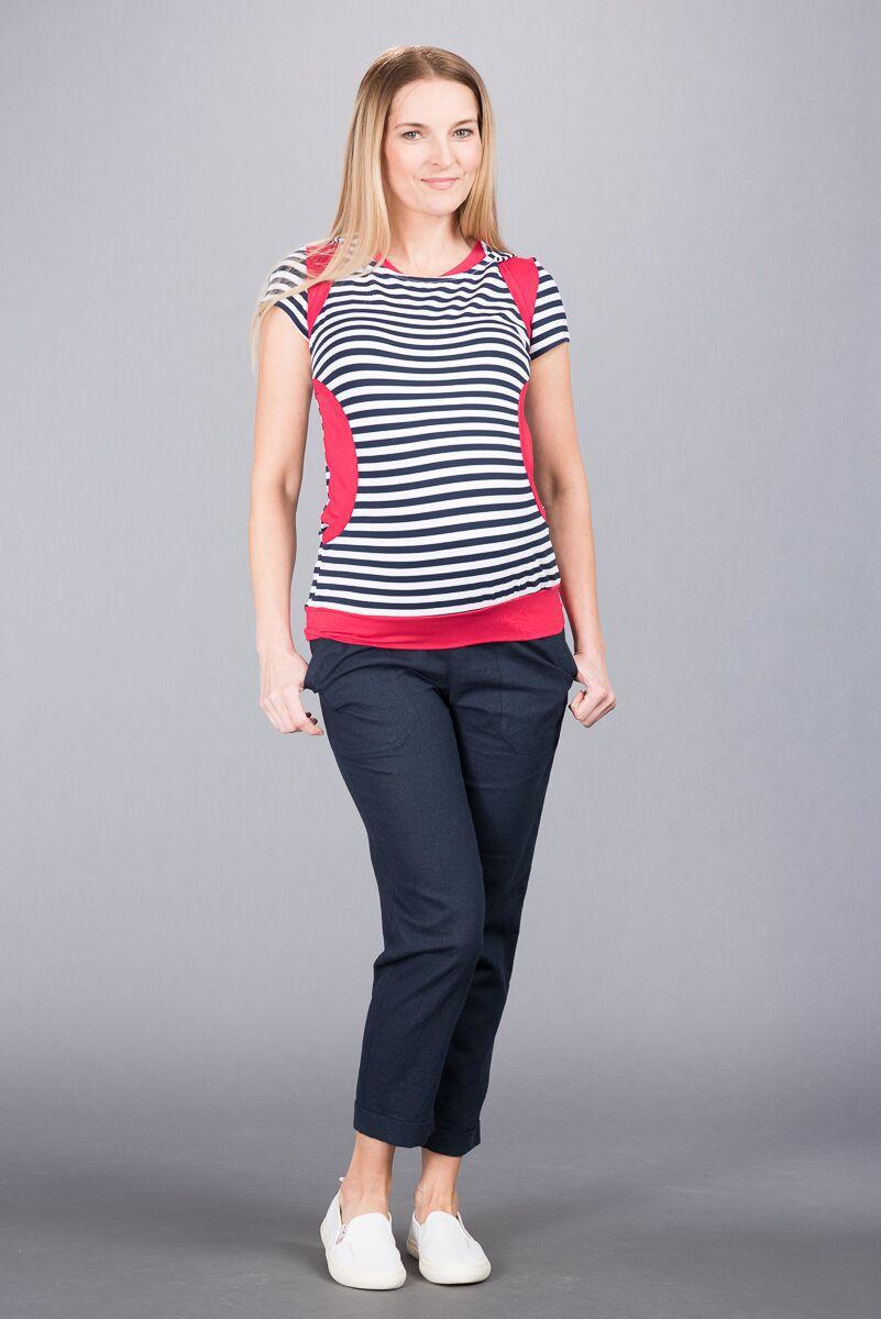 Těhotenské kalhoty BEBEFIELD - Torino Navy