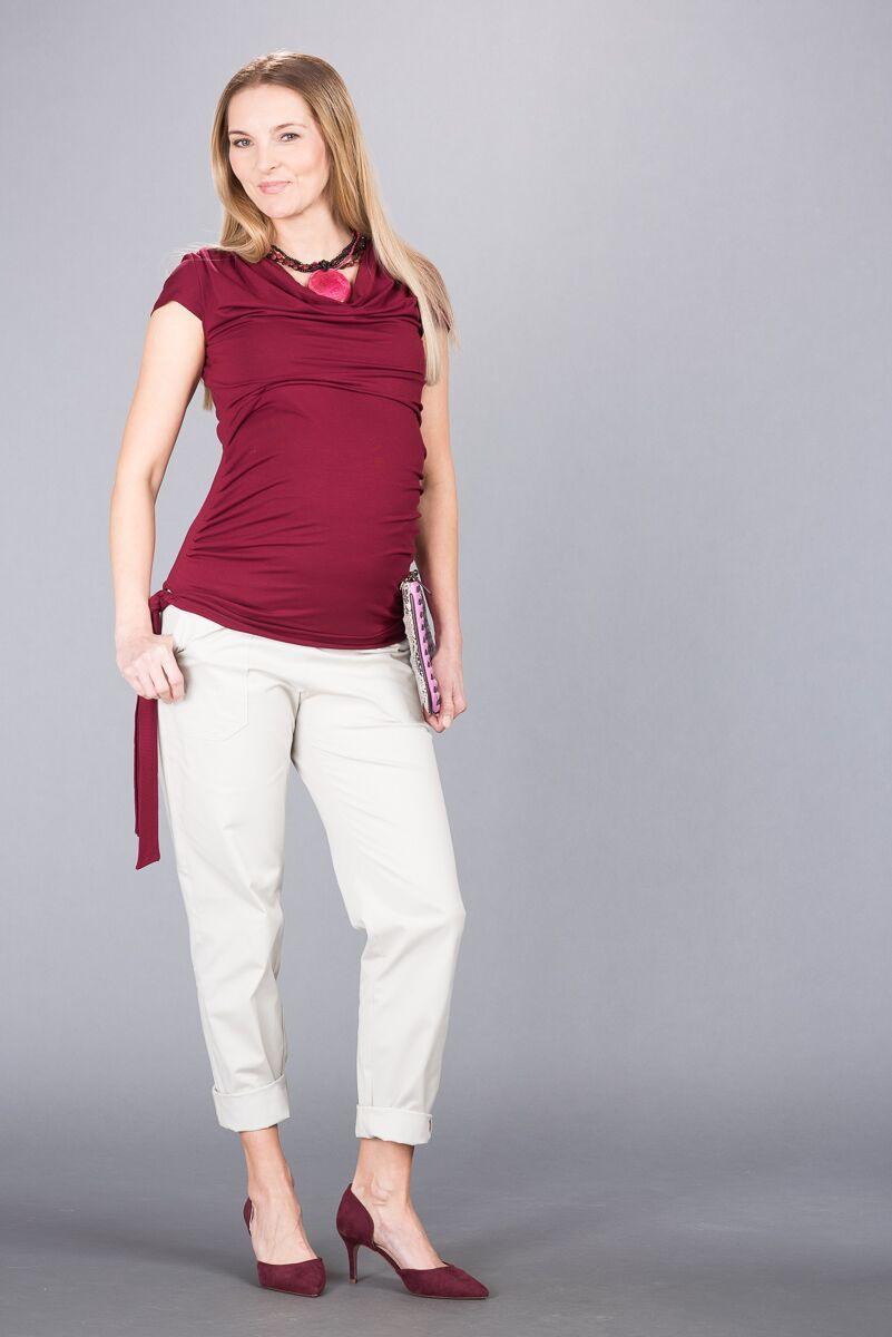 Těhotenské kalhoty BEBEFIELD - Venice Stone