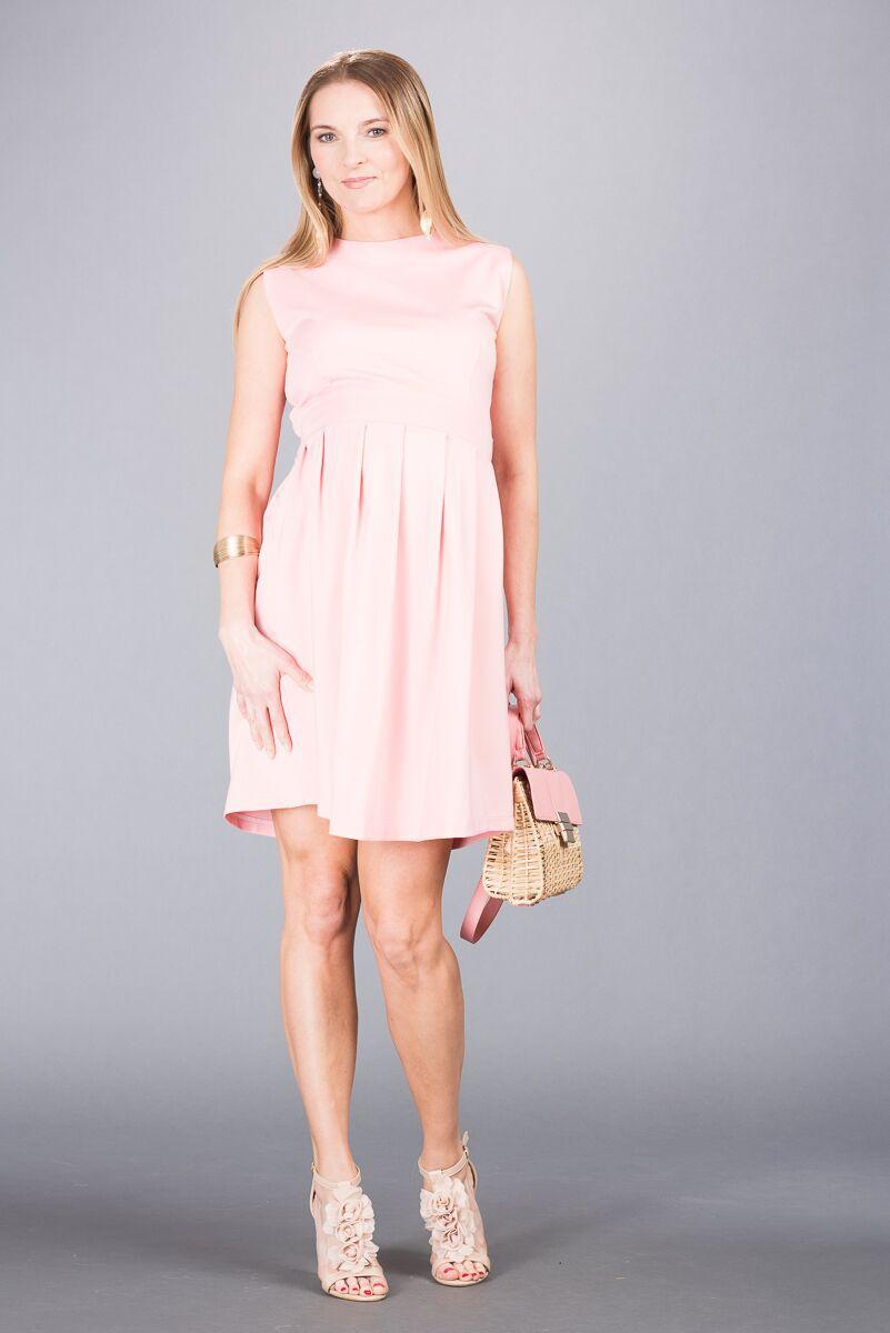Těhotenské šaty BEBEFIELD - Angelina Light Rose