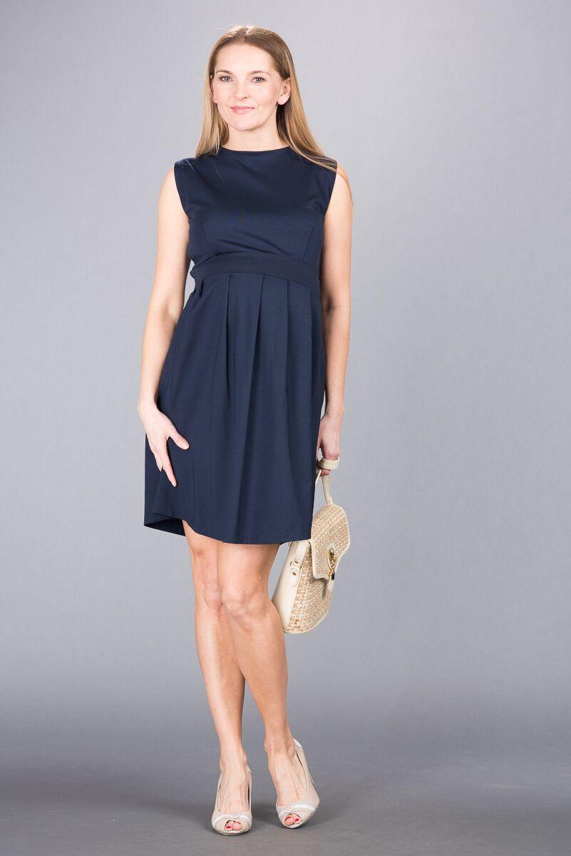 Těhotenské šaty BEBEFIELD - Angelina Navy